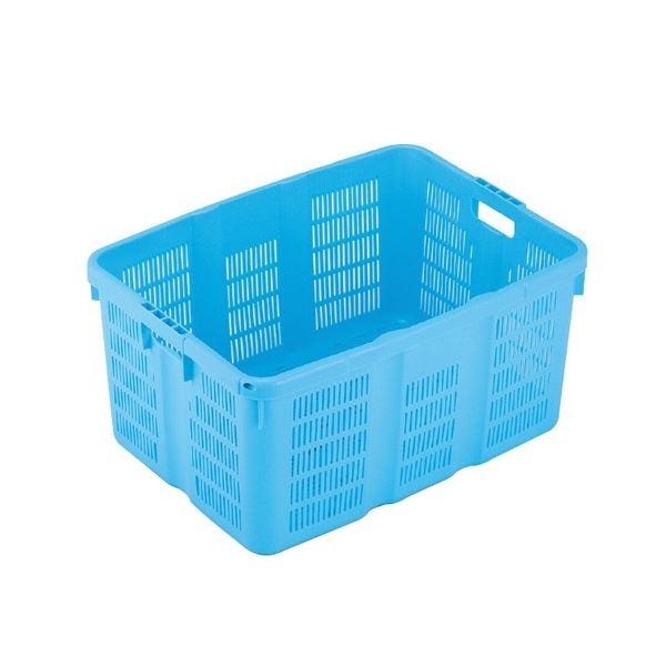 〔5個セット〕プラスケット/網目ボックス 〔No.900 金具付き〕 ブルー スタッキング金具使用時:段積み可【代引不可】