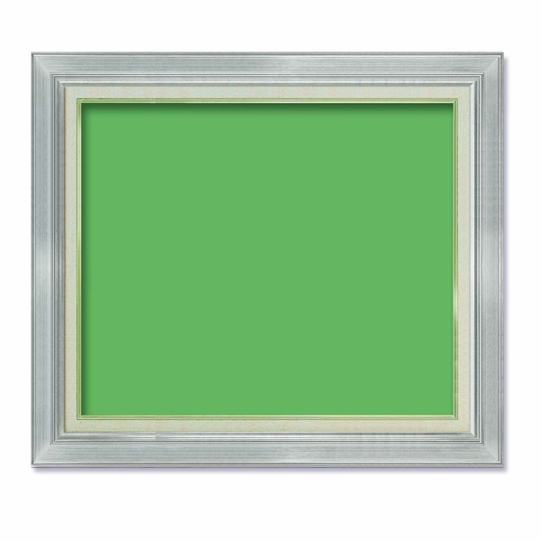 【送料無料】〔油額〕油絵額・キャンバス額・金の油絵額・銀の油絵額 ■P15号(652×500mm)「シルバー」【代引不可】