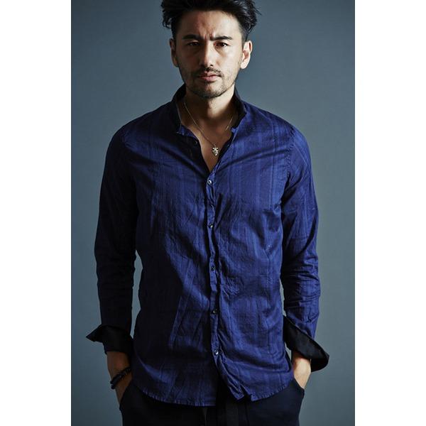 VADEL collar separated shirts NAVY サイズ44【代引不可】【北海道・沖縄・離島配送不可】