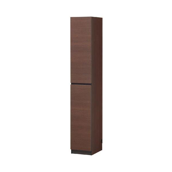 【送料無料】壁面収納棚 薄型 幅30cm×高さ180cm スリムタイプ ブラウン 〔PORTALE〕ポルターレ 【代引不可】