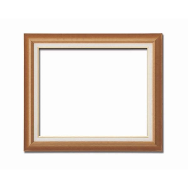 【送料無料】〔油額〕油絵額・キャンバス額・木製油絵額・茶色油絵額 ■F15号(652×530mm)「チーク」【代引不可】