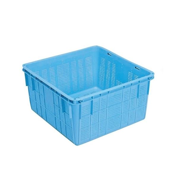 〔5個セット〕プラスケット/網目ボックス 〔No.1150 金具付き〕 ブルー スタッキング金具使用時:段積み可【代引不可】