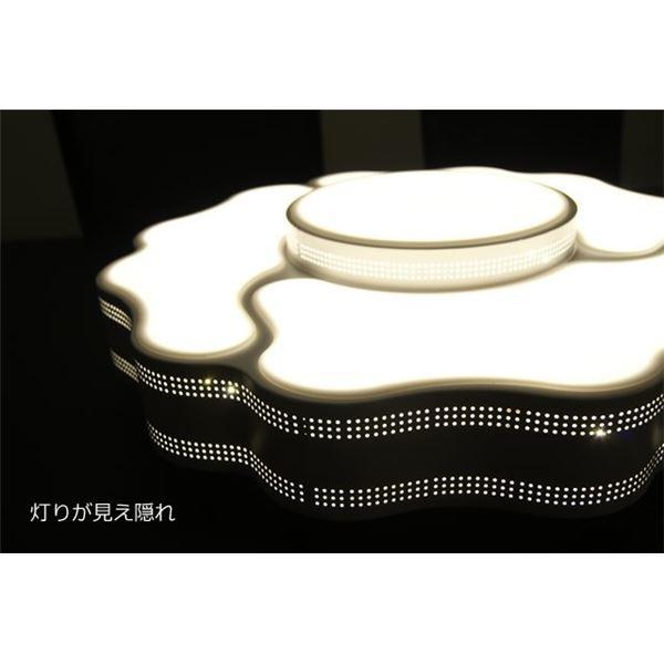【送料無料】シーリングライト(照明器具) LEDタイプ/4000ルーメン 自然光色 花柄モチーフ 〔リビング照明/ダイニング照明〕〔電球付き〕【代引不可】