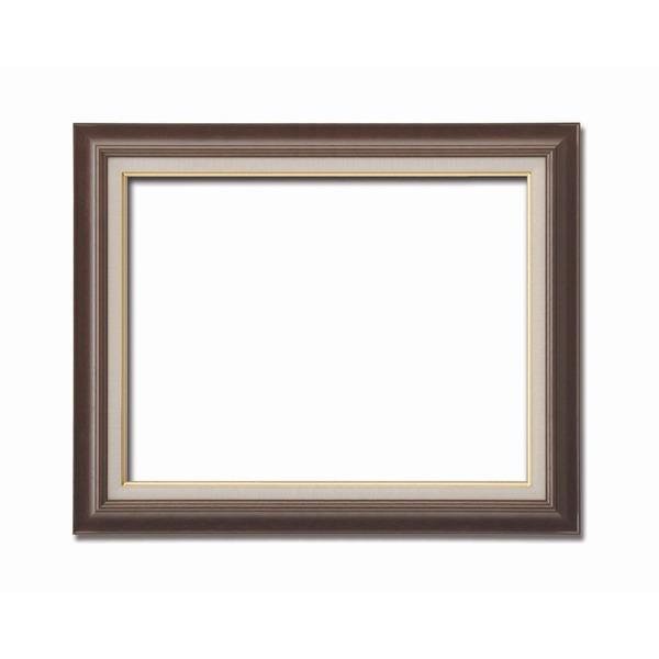 【送料無料】〔油額〕油絵額・キャンバス額・木製油絵額・茶色油絵額 ■F15号(652×530mm)「ブラウン」【代引不可】
