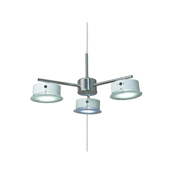 【送料無料】ペンダントライト 北欧風 3灯 白(ホワイト) シーリングLEDライト(照明器具) X-7WH【代引不可】