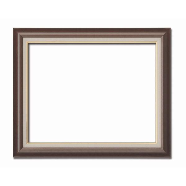 【送料無料】〔油額〕油絵額・キャンバス額・木製油絵額・茶色油絵額 ■F20号(727×606mm)「ブラウン」【代引不可】