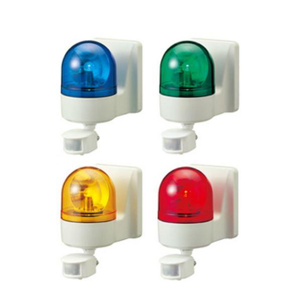 【送料無料】パトライト(回転灯) パトセンサ 壁面取付けセンサ付き回転灯 WHS-100A AC100V Ф100 防滴 ブザーなし 赤【代引不可】