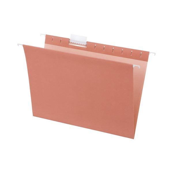 (まとめ) TANOSEE ハンギングフォルダー A4 ピンク 1パック(5冊) 〔×10セット〕【代引不可】【北海道・沖縄・離島配送不可】