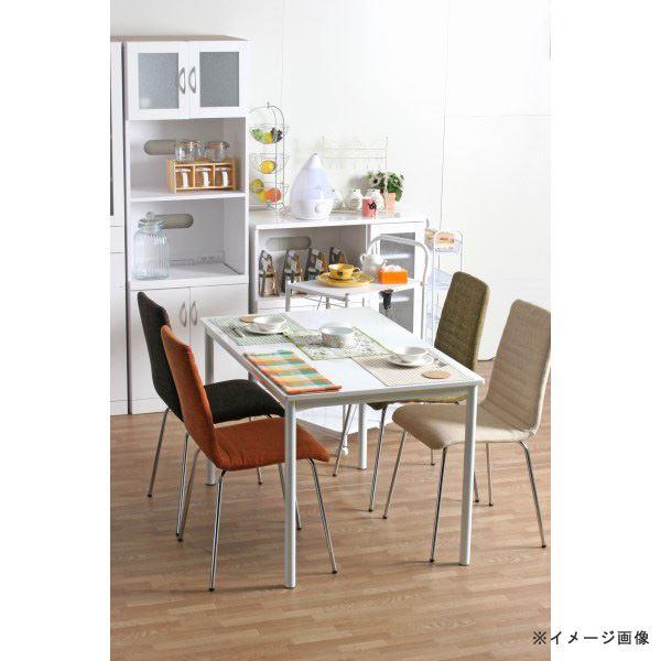 【送料無料】北欧風 ダイニングテーブル/リビングテーブル 単品 〔幅120cm〕 ホワイト スチールフレーム 『シュクル』 【代引不可】