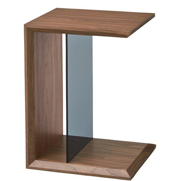マルチサイドテーブル/ミニテーブル 〔幅54cm〕 強化ガラス使用 ウォールナット SO-226WAL【代引不可】【北海道・沖縄・離島配送不可】