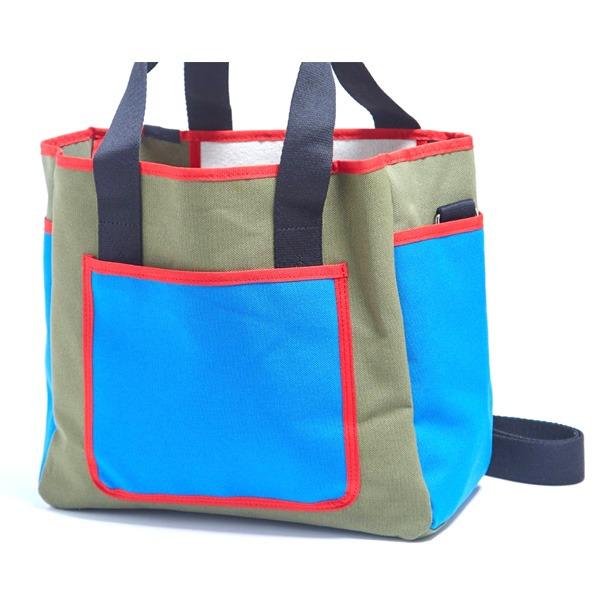 アウトドアにも旅行にもエコバッグとしても使えるハンドバッグ/カーキ【代引不可】