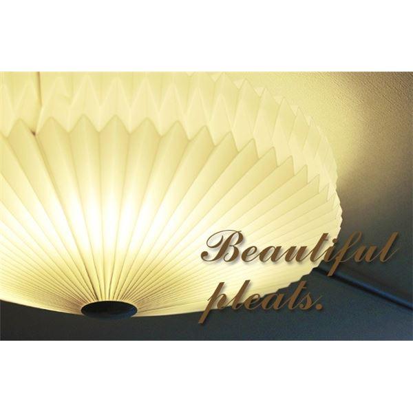 【送料無料】シーリングライト(照明器具) LEDタイプ/自然光色 プリーツ加工シェード 〔リビング照明/ダイニング照明〕〔電球付き〕【代引不可】