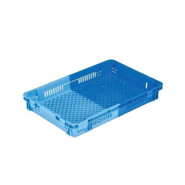 〔5個セット〕 業務用コンテナボックス/食品用コンテナー 〔NF-M18〕 ダークブルー/ブルー 材質:PP【代引不可】