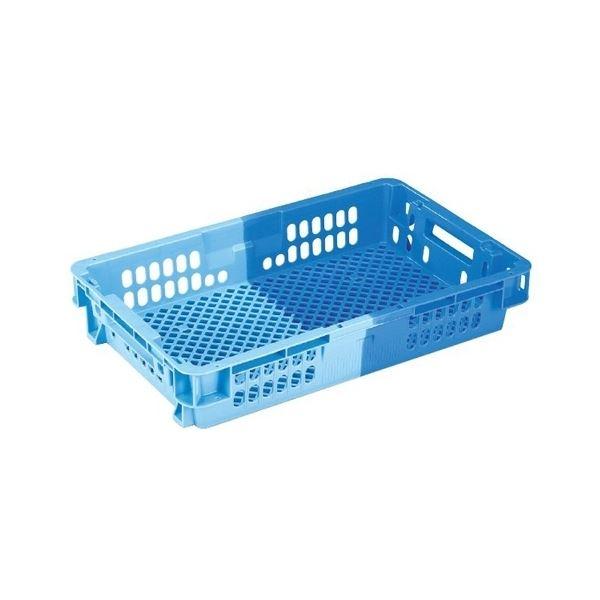〔10個セット〕 業務用コンテナボックス/食品用コンテナー 〔NF-M21C浅〕 ダークブルー/ブルー 材質:PP【代引不可】