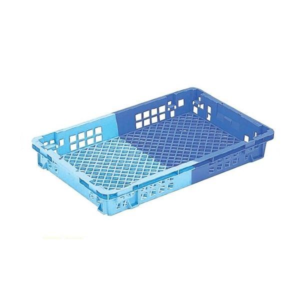 〔5個セット〕 業務用コンテナボックス/食品用コンテナー 〔NF-M22〕 ダークブルー/ブルー 材質:PP【代引不可】