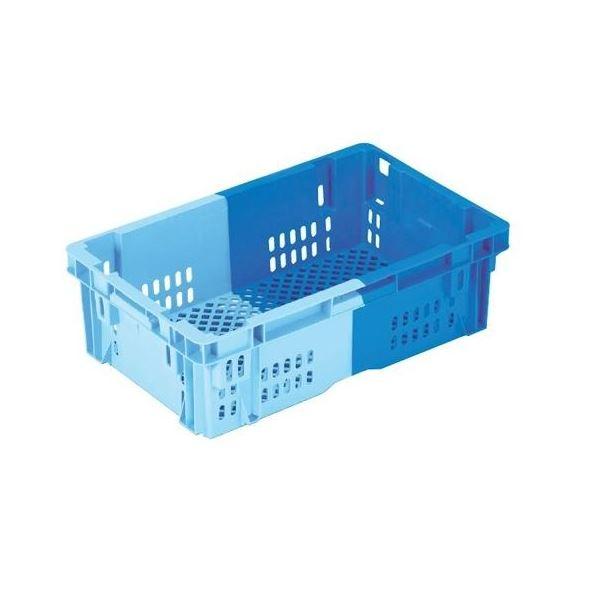 〔5個セット〕 業務用コンテナボックス/食品用コンテナー 〔NF-M23P〕 ダークブルー/ブルー 材質:PP【代引不可】