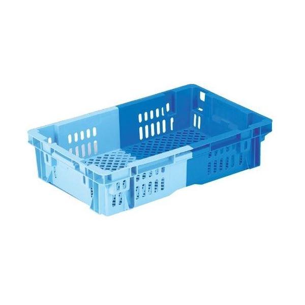 〔5個セット〕 業務用コンテナボックス/食品用コンテナー 〔NF-M23P浅〕 ダークブルー/ブルー 材質:PP【代引不可】