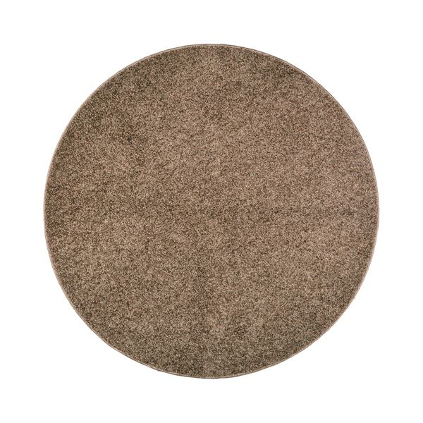 【送料無料】抗菌防臭 ラグマット/絨毯 〔160R ブラウン〕 円形 日本製 折りたたみ 防ダニ ホットカーペット 通年可 『デタント』【代引不可】