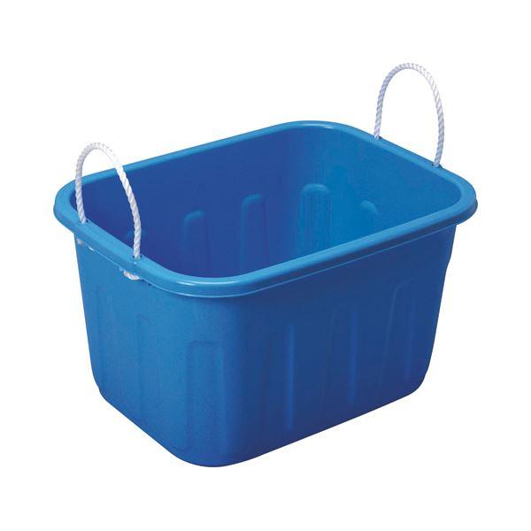 (まとめ) サンコープラスチック キングタブ 角型 36L ブルー 1個 〔×10セット〕【代引不可】【北海道・沖縄・離島配送不可】