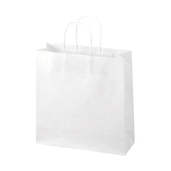 (まとめ)スマートバリュー 手提袋 丸紐 白 中 300枚 B288J-W6〔×5セット〕【代引不可】【北海道・沖縄・離島配送不可】