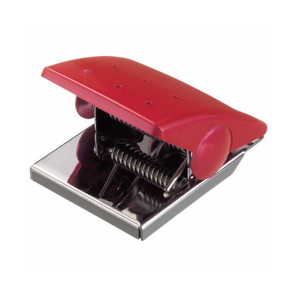 デザイン性に優れたマグネットクリップ。 (まとめ) ライオン事務器 マグネットクリップW43×D53×H33mm レッド MC-1R 1個 〔×30セット〕【代引不可】