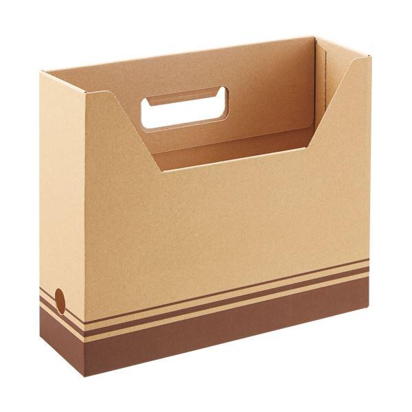 (まとめ) TANOSEEボックスファイル(ナチュラル) A4ヨコ 背幅100mm 1パック(5冊) 〔×30セット〕【代引不可】【北海道・沖縄・離島配送不可】