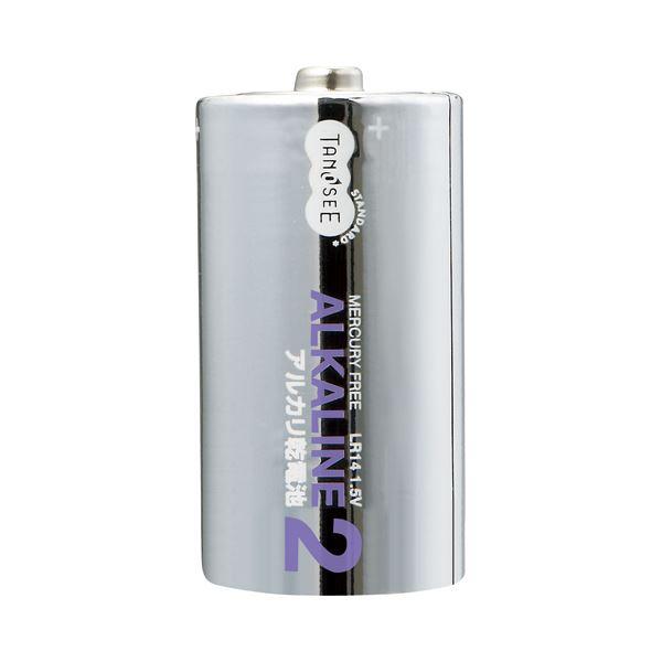 (まとめ)TANOSEE 単2形 アルカリ乾電池 2本入×50パック〔×3セット〕【代引不可】【北海道・沖縄・離島配送不可】