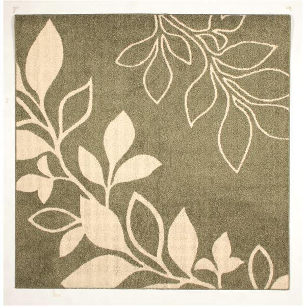 【送料無料】花粉ウイルス対策 ラグマット/絨毯 〔130cm×185cm グリーン〕 長方形 日本製 折りたたみ 防ダニ 抗菌 防臭 通年 『アルブル』【代引不可】