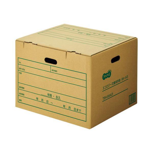 (まとめ) TANOSEE 文書保存箱 B4・A3用 内寸:W455×D396×H327mm 1パック(10個) 〔×5セット〕【代引不可】【北海道・沖縄・離島配送不可】