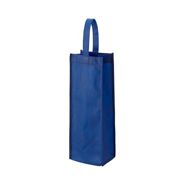 (まとめ) TANOSEE 不織布ワイン袋 ヨコ130×タテ370×マチ幅85mm ネイビー 1パック(10枚) 〔×10セット〕【代引不可】【北海道・沖縄・離島配送不可】