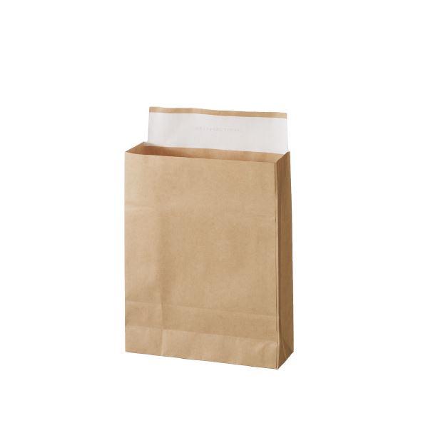 (まとめ)スーパーバッグ 宅配袋 未晒 小 100枚入〔×5セット〕【代引不可】【北海道・沖縄・離島配送不可】