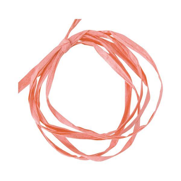 (まとめ) ヘッズ ペーパーラフィア 5mm×50mピンク PR-PI 1巻 〔×30セット〕【代引不可】【北海道・沖縄・離島配送不可】