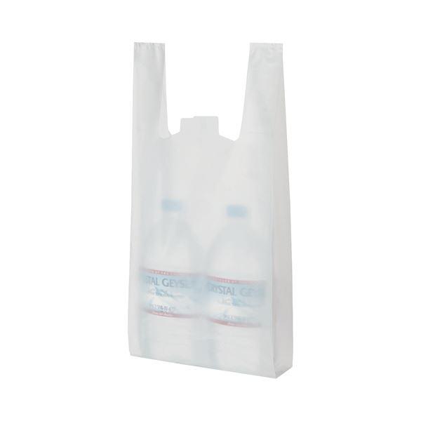 (まとめ) TANOSEE 乳白レジ袋 25号 ヨコ215×タテ480×マチ幅125mm 1パック(100枚) 〔×30セット〕【代引不可】【北海道・沖縄・離島配送不可】