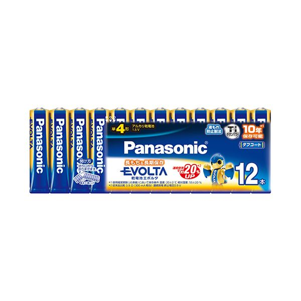 (まとめ) パナソニック アルカリ乾電池EVOLTA 単3形 LR6EJ/12SW 1パック(12本) 〔×10セット〕【代引不可】【北海道・沖縄・離島配送不可】