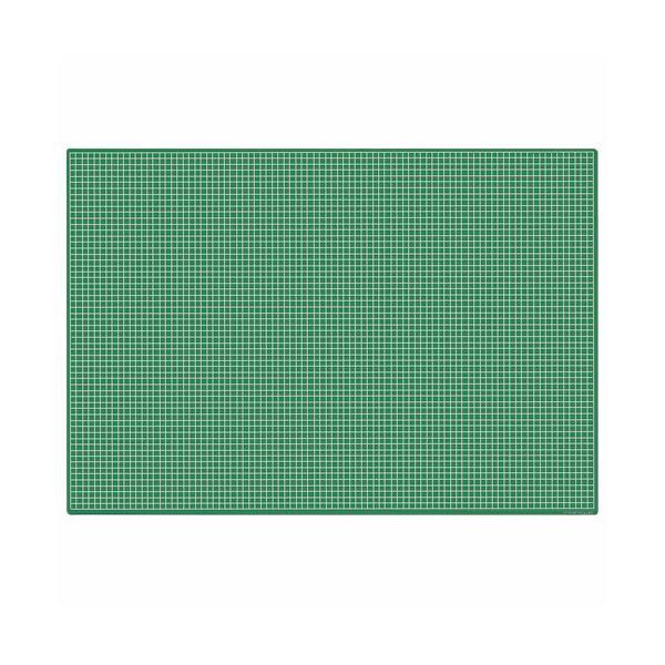 (まとめ)ライオン事務器 カッティングマット再生オレフィン製 両面使用 900×620×3mm グリーン CM-90S 1枚〔×3セット〕【代引不可】【北海道・沖縄・離島配送不可】