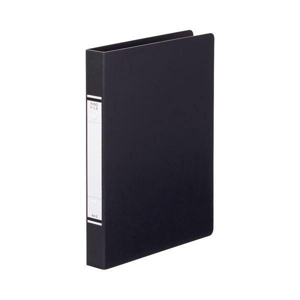 (まとめ) TANOSEE Oリングファイル(紙表紙) A4タテ 2穴 220枚収容 背幅36mm 黒 1セット(10冊) 〔×10セット〕【代引不可】