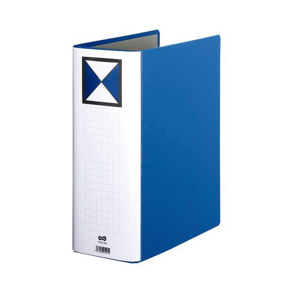 (まとめ) TANOSEE 両開きパイプ式ファイル A4タテ 1000枚収容 背幅116mm 青 1冊 〔×10セット〕【代引不可】【北海道・沖縄・離島配送不可】