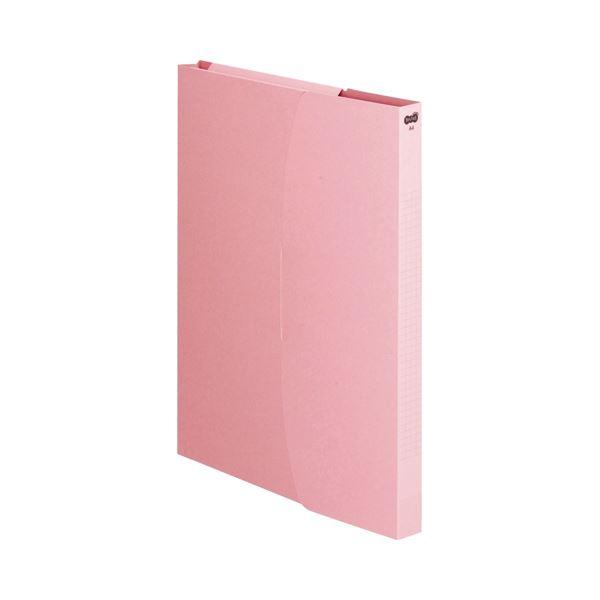 (まとめ) TANOSEE ケースファイル A4タテ 230枚収容 背幅23mm ピンク 1パック(3冊) 〔×30セット〕【代引不可】【北海道・沖縄・離島配送不可】