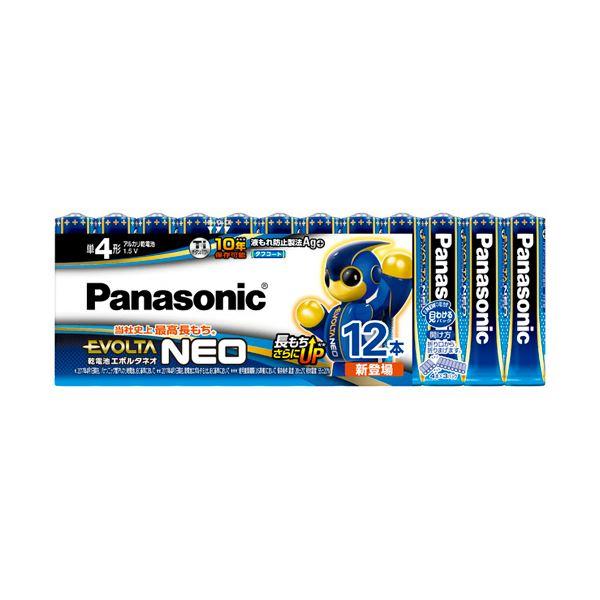 (まとめ) パナソニック アルカリ乾電池EVOLTAネオ 単4形 LR03NJ/12SW 1パック(12本) 〔×10セット〕【代引不可】【北海道・沖縄・離島配送不可】