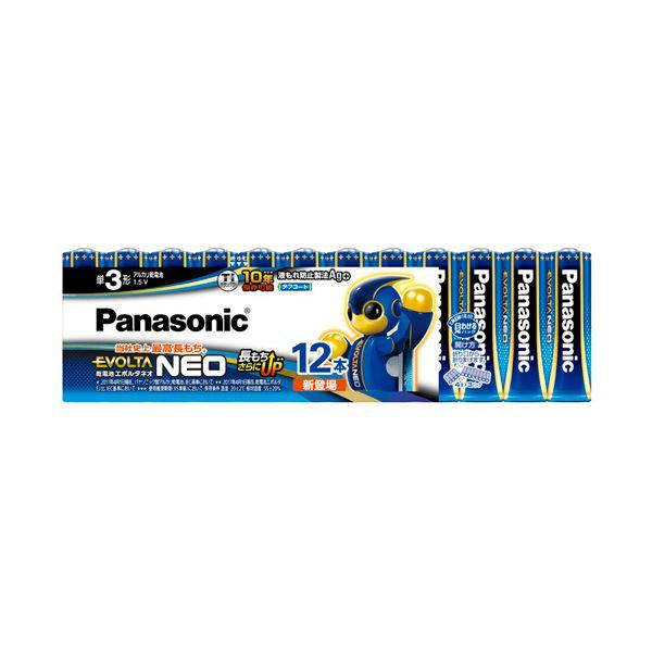 (まとめ) パナソニック アルカリ乾電池EVOLTAネオ 単3形 LR6NJ/12SW 1パック(12本) 〔×10セット〕【代引不可】【北海道・沖縄・離島配送不可】