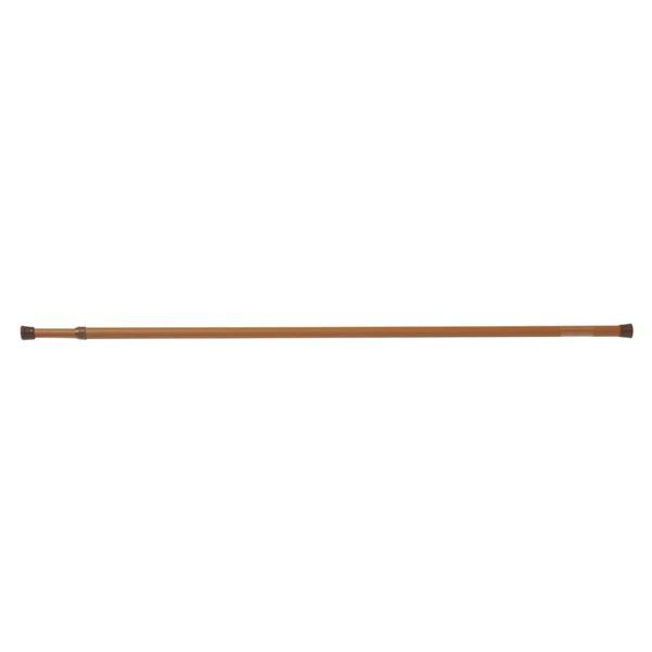 (まとめ) つっぱり棒/ポールハンガー 〔木調 L 長さ60~100cm〕 ネジ・クギ不要 伸縮 リビングポールミニ 〔×24個セット〕【代引不可】【北海道・沖縄・離島配送不可】