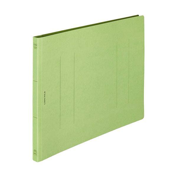 (まとめ) ライオン事務器 フラットファイル(環境) 樹脂押え具 B4ヨコ 150枚収容 背幅18mm 緑 A-509KB4E 1セット(10冊) 〔×10セット〕【代引不可】