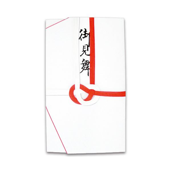 (まとめ) 大阪折 赤白7本 御見舞 117-1 1枚 〔×100セット〕【代引不可】【北海道・沖縄・離島配送不可】
