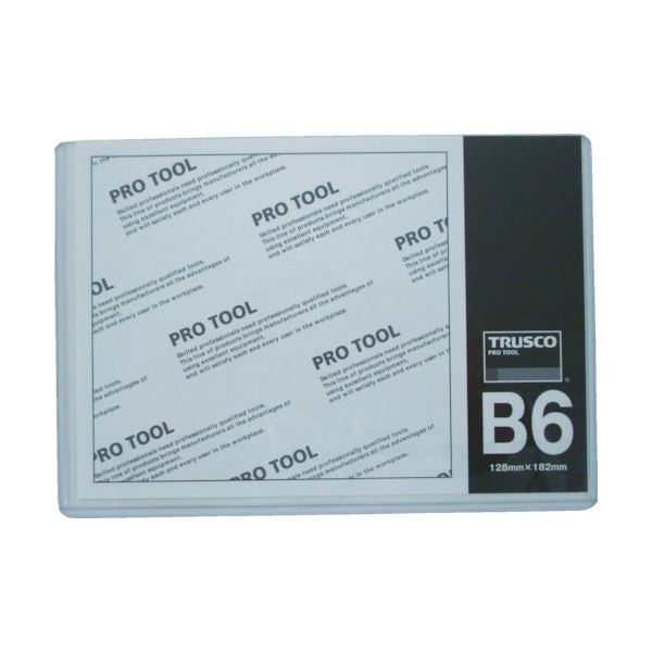 (まとめ) TRUSCO 厚口カードケース B6THCCH-B6 1枚 〔×100セット〕【代引不可】