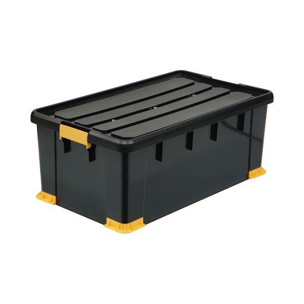 (まとめ)サンカ 頑丈箱(工具箱) ブラック 74×30cm TCP-74-30 1個〔×3セット〕【代引不可】【北海道・沖縄・離島配送不可】