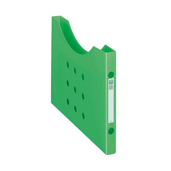 (まとめ) ライオン事務器ボックスファイル(ノイル) スリムタイプ A4ヨコ 背幅25mm グリーン BF-12n 1個 〔×30セット〕【代引不可】【北海道・沖縄・離島配送不可】