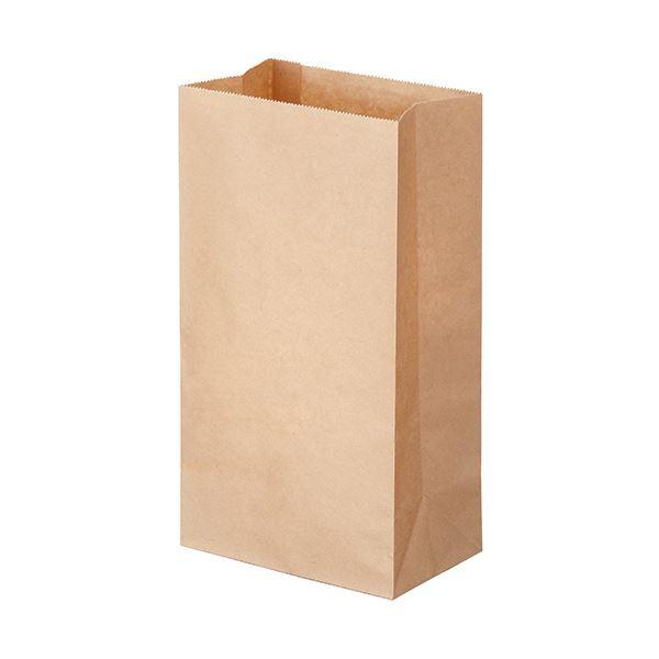(まとめ) TANOSEE 角底袋 4号ヨコ130×タテ235×マチ幅80mm 未晒 1パック(500枚) 〔×10セット〕【代引不可】【北海道・沖縄・離島配送不可】