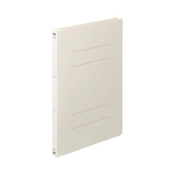(まとめ) TANOSEE フラットファイル(PP) A4タテ 150枚収容 背幅17mm オフホワイト 1セット(25冊:5冊×5パック) 〔×5セット〕【代引不可】