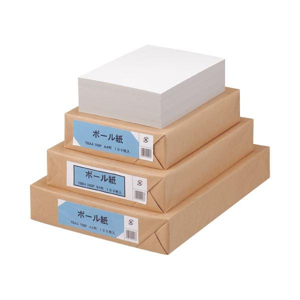 (まとめ) TANOSEE ボール紙 A3 1パック(100枚) 〔×5セット〕【代引不可】【北海道・沖縄・離島配送不可】