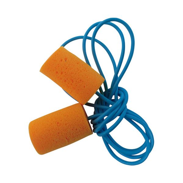 (まとめ)ミドリ安全 耳栓デシダンプひも付2組入り〔×50セット〕【代引不可】【北海道・沖縄・離島配送不可】